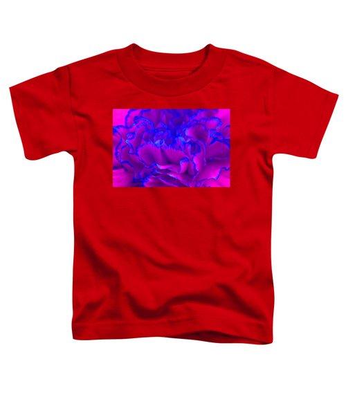 Bold Fuschia Pink And Blue Carnation Flower Toddler T-Shirt