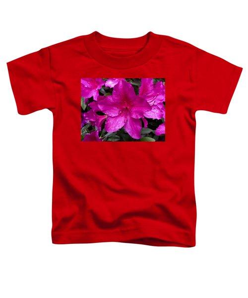 Bold Pink Flower Toddler T-Shirt