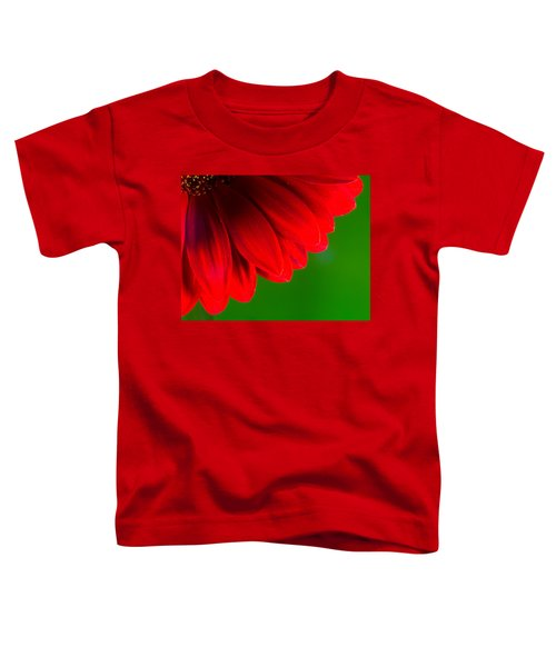 Bright Red Chrysanthemum Flower Petals And Stamen Toddler T-Shirt