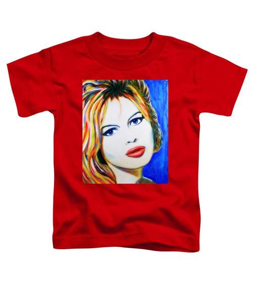 Brigitte Bardot Pop Art Portrait Toddler T-Shirt