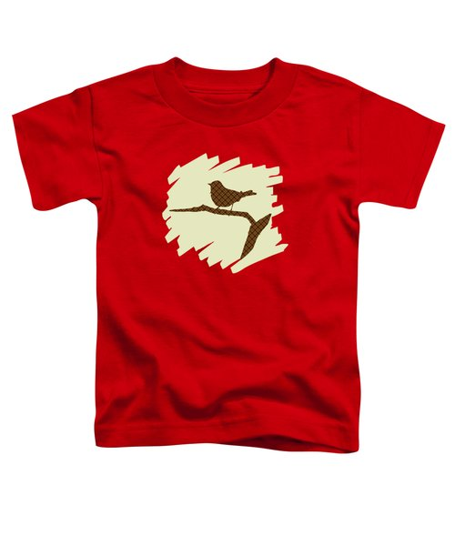 Brown Bird Silhouette Modern Bird Art Toddler T-Shirt by Christina Rollo