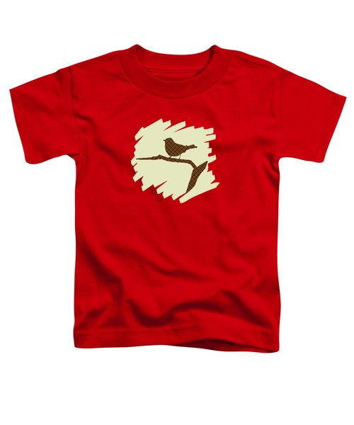Brown Bird Silhouette Modern Bird Art Toddler T-Shirt