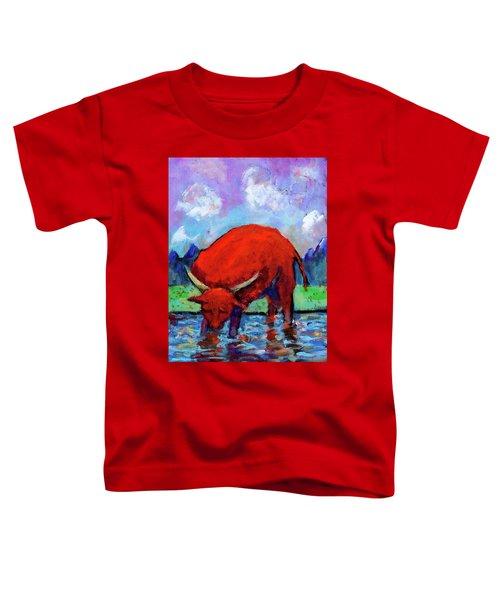 Bull On The River Toddler T-Shirt