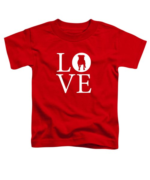 Bulldog Love Red Toddler T-Shirt