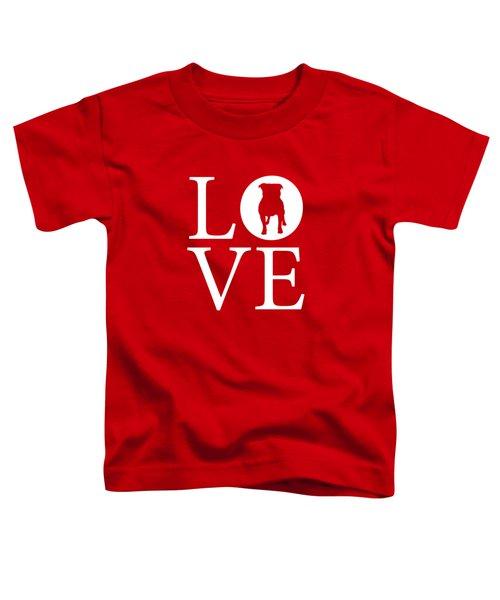 Bulldog Love Red Toddler T-Shirt