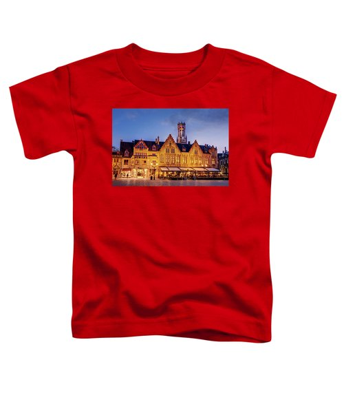 Burg Square Architecture At Night - Bruges Toddler T-Shirt