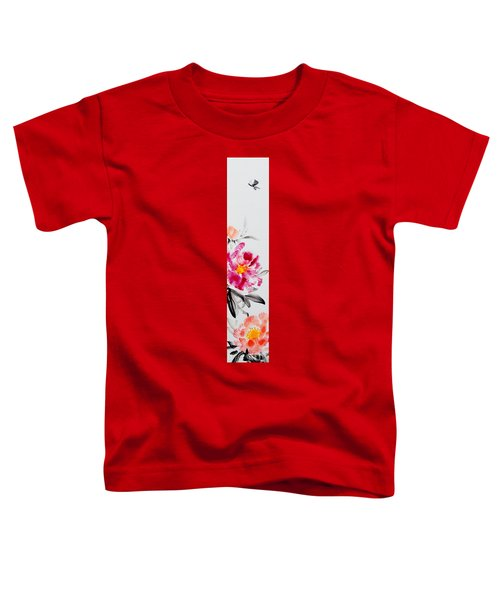 Camellia And Butterfly Toddler T-Shirt
