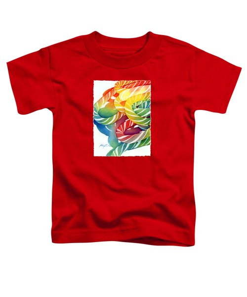 Candy Canes Toddler T-Shirt by Hailey E Herrera