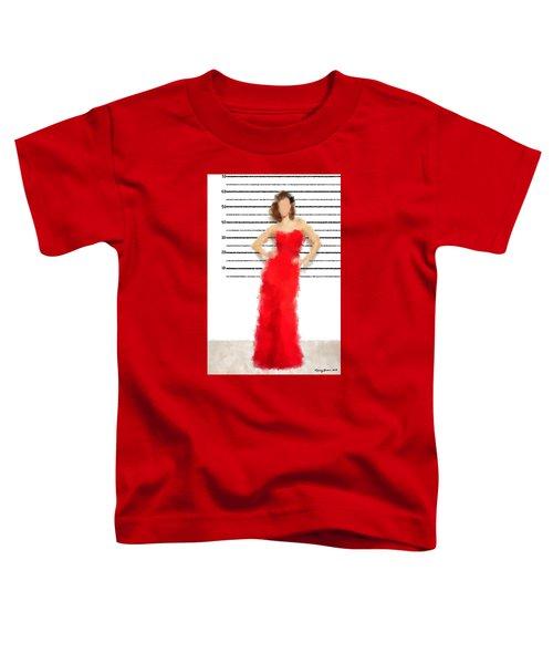 Toddler T-Shirt featuring the digital art Carmela by Nancy Levan