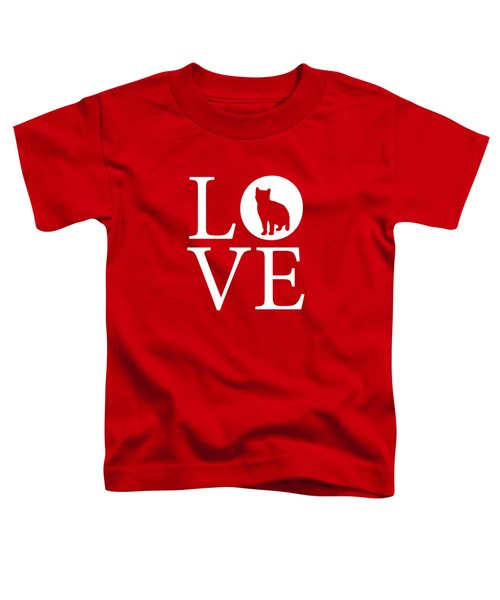 Cat Love Red Toddler T-Shirt