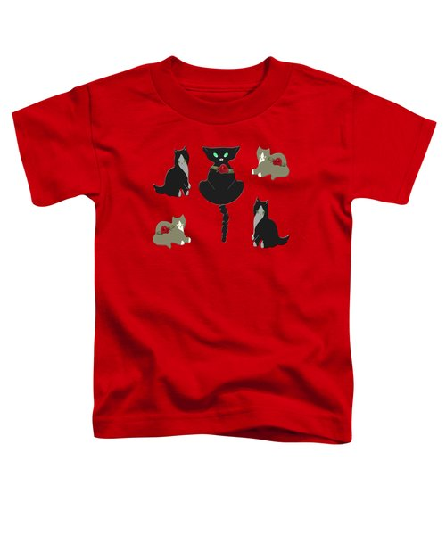 Cats Characteristic Arrangement Toddler T-Shirt