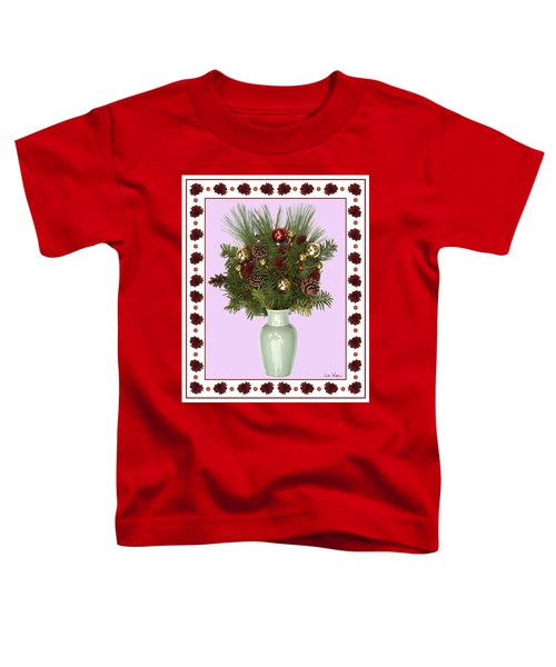 Celadon Vase With Christmas Bouquet Toddler T-Shirt
