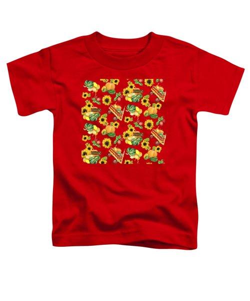 Celebrate Abundance Harvest Half Drop Repeat Toddler T-Shirt by Audrey Jeanne Roberts