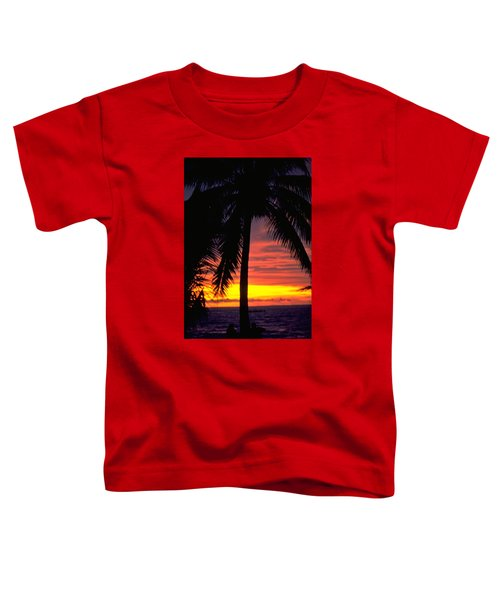 Champagne Sunset Toddler T-Shirt by Travel Pics