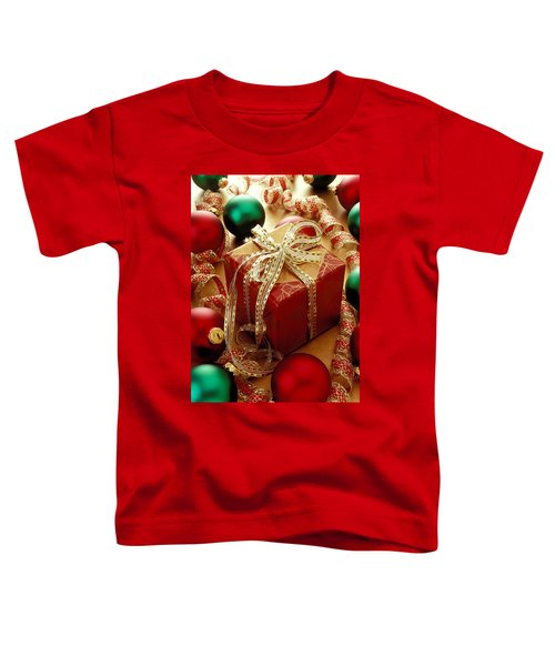 Christmas Present And Ornaments Toddler T-Shirt