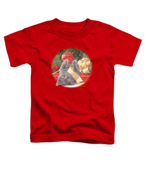 Christmas Surprise Toddler T-Shirt by Lucie Bilodeau