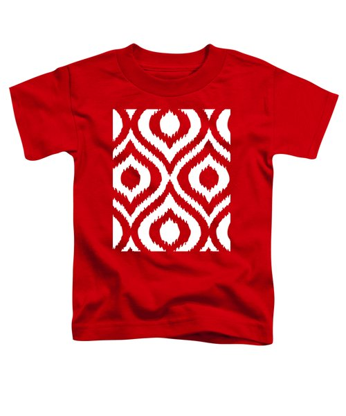 Circle And Oval Ikat In White T02-p0100 Toddler T-Shirt