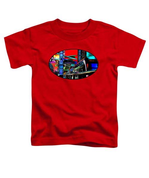 City Tansit Pop Art Toddler T-Shirt by Phyllis Denton