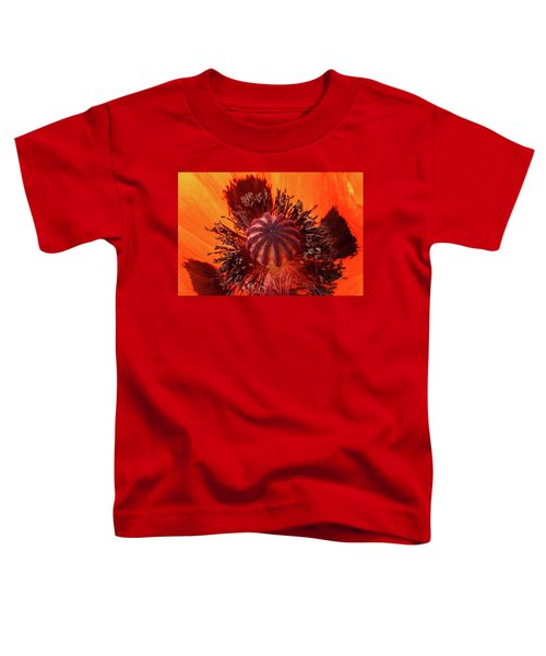 Close-up Bud Of A Red Poppy Flower Toddler T-Shirt