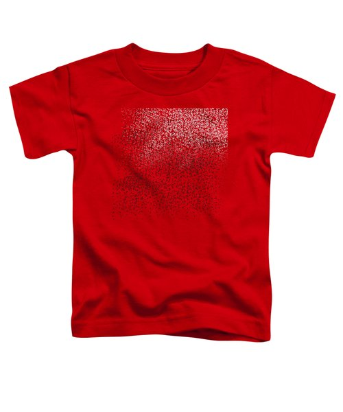 Cloud Of Birds Red Sky Toddler T-Shirt by Sverre Andreas Fekjan