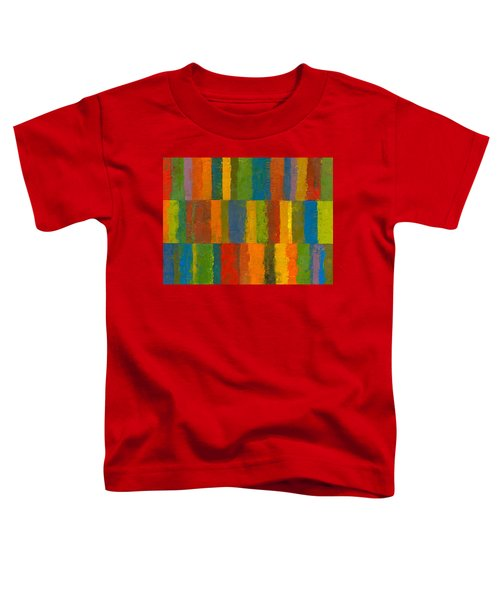 Toddler T-Shirt featuring the painting Color Collage With Stripes by Michelle Calkins