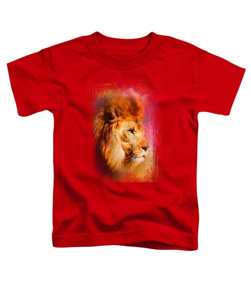 Colorful Expressions Lion Toddler T-Shirt by Jai Johnson
