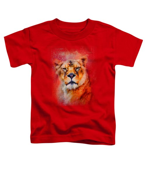 Colorful Expressions Lioness Toddler T-Shirt by Jai Johnson