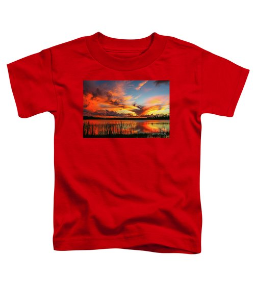 Colorful Fort Pierce Sunset Toddler T-Shirt