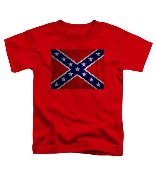 Confederate Flag Barn Door Toddler T-Shirt