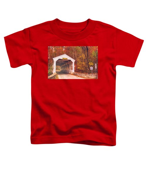 Covered Bridge At Valley Forge Toddler T-Shirt