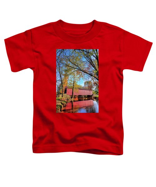 Covered Bridge In Maryland In Autumn Toddler T-Shirt