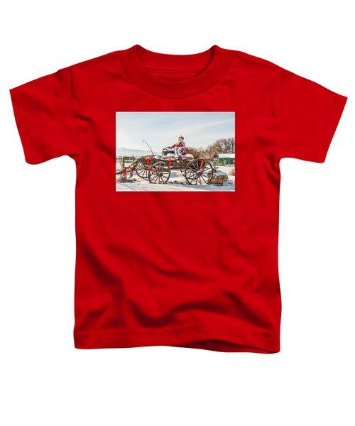 Cowboy Santa Taking A Quick Break Toddler T-Shirt