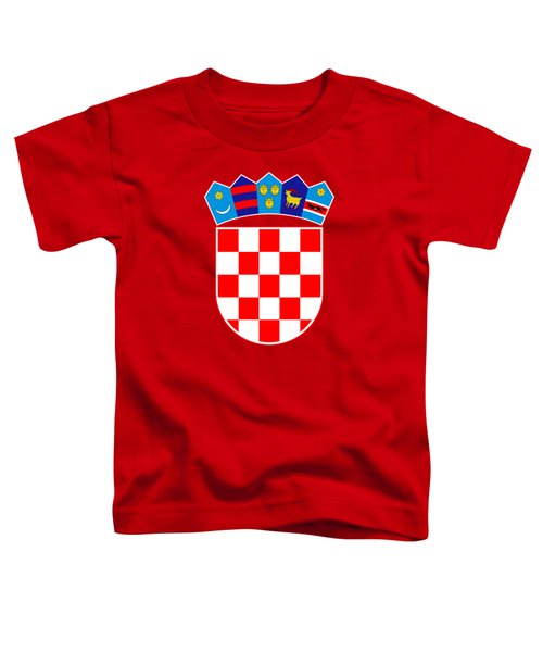 Croatia Coat Of Arms Toddler T-Shirt by Movie Poster Prints