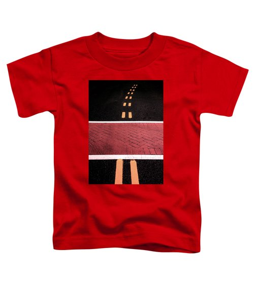 Crosswalk Conversion Of Traffic Lines Toddler T-Shirt