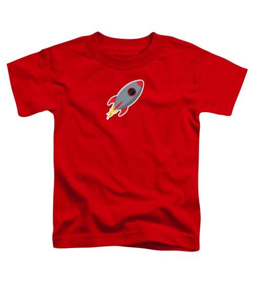 Cute Gray Rocket Ship Toddler T-Shirt