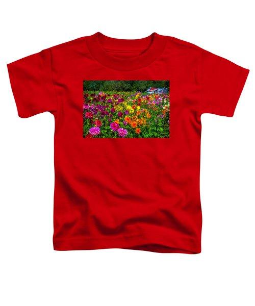 Dahlia Garden Oregon Toddler T-Shirt