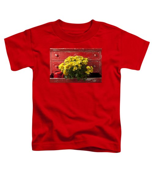 Daisy Plant In Drawers Toddler T-Shirt