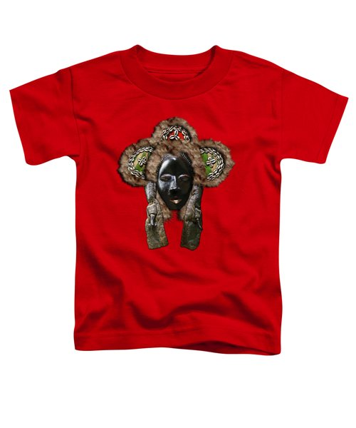 Dan Dean-gle Mask Of The Ivory Coast And Liberia On Red Leather Toddler T-Shirt