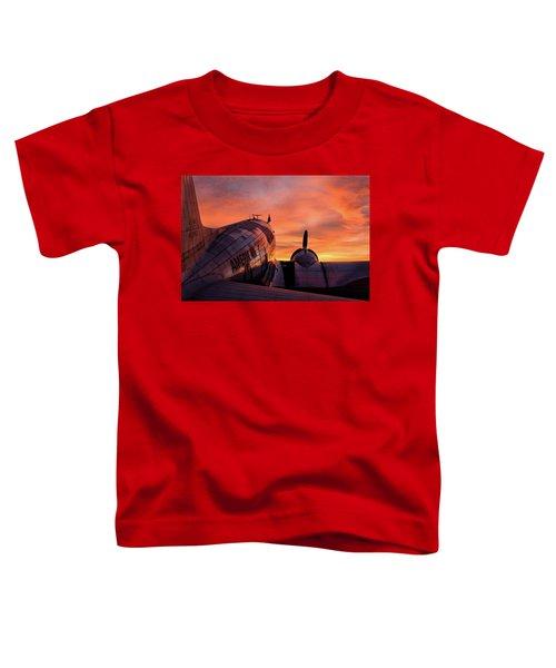 Dc-3 Dawn - 2017 Christopher Buff, Www.aviationbuff.com Toddler T-Shirt