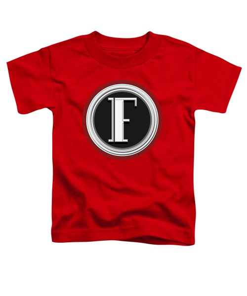 Deco Cafe Marquee  Monogram  Letter F Toddler T-Shirt