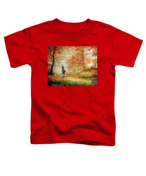 Deer On The Wooden Path Toddler T-Shirt