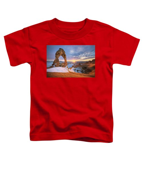 Delicate Arch Winter Toddler T-Shirt