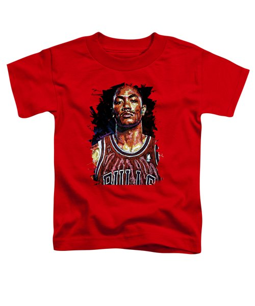 Derrick Rose-2 Toddler T-Shirt by Maria Arango