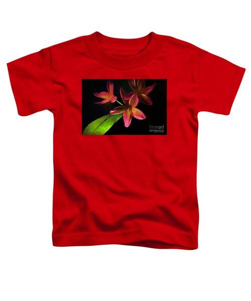 Digitized Sunset Plumerias #2 Toddler T-Shirt