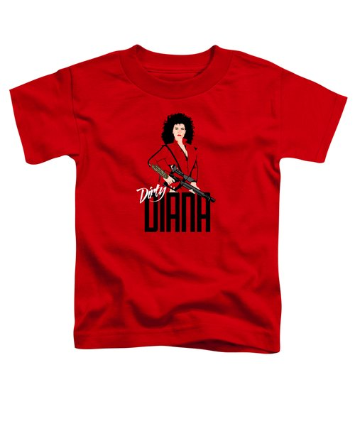 Dirty Diana Toddler T-Shirt by Mos Graphix