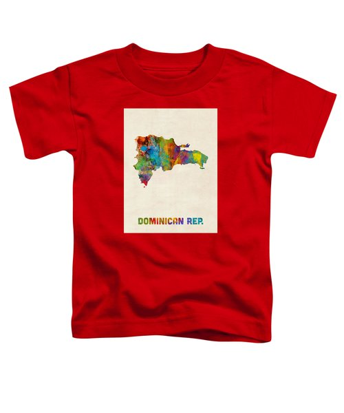 Dominican Republic Watercolor Map Toddler T-Shirt