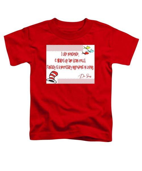 Dr Seuss Inspiration Toddler T-Shirt