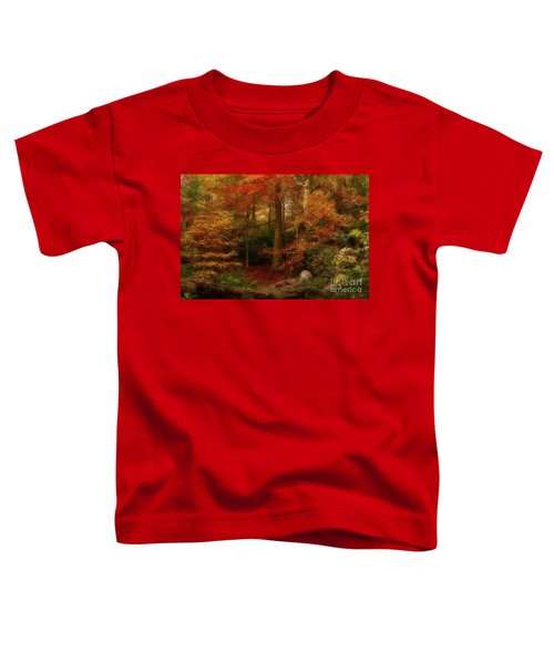 Dreamy Forest Glade In Fall Toddler T-Shirt