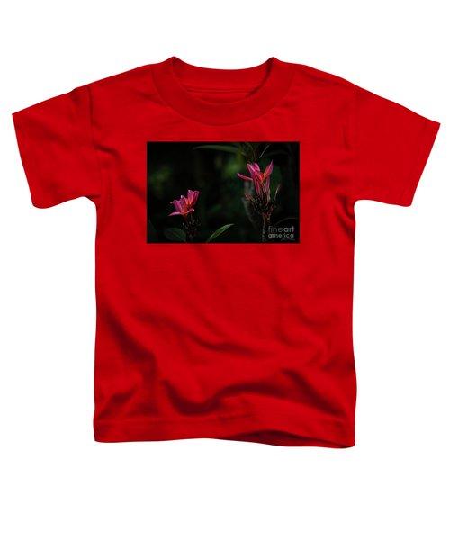 Dual Red Plumerias Toddler T-Shirt
