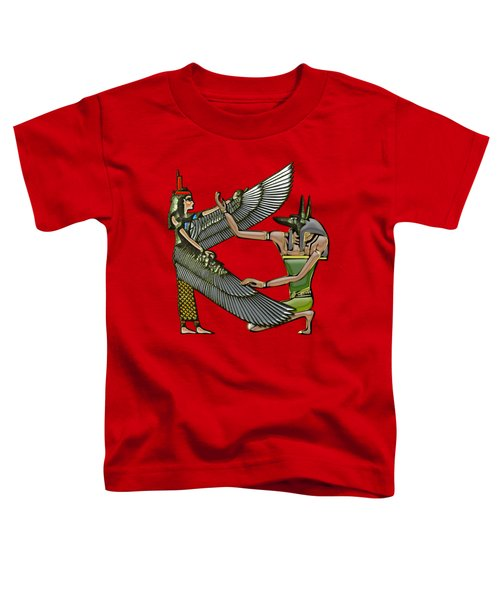 Egyptian Gods Anubis And Nut Toddler T-Shirt